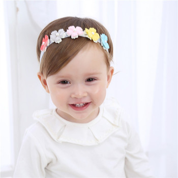 20 Types Fashion Newborn Toddler Children Hair Accessories Baby Headband Lace Flowers Cute Kids Girl Headgear Elastic Headdress 1