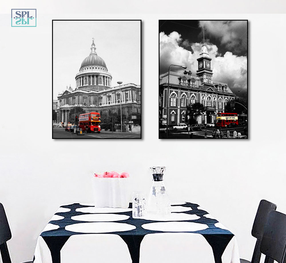 SPLSPL Modern City Transportation Canvas Art Print Painting Poster, Wall Pictures For Home Decoration, Wall Decor