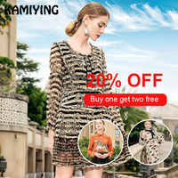 KAMIYING 2019 Spring New Style Fashion Agaric Stitching Lace Victorian Retro Dress Court Temperament Silk Striped Dress Female