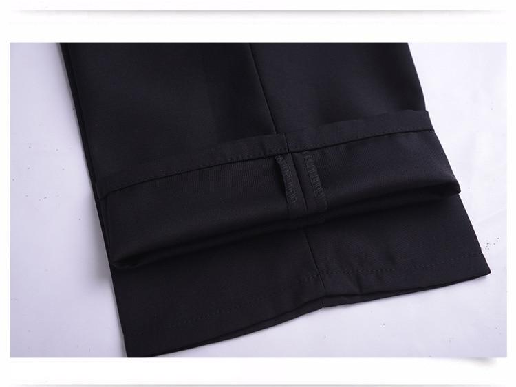 Anzug Hosen Männer Mode Kleid Hosen Social Mens Dress Hosen Schwarz - Herrenbekleidung - Foto 6