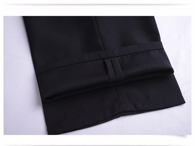 Pantalon de costume Hommes Mode Robe Pantalon Sociale Habillées Pour Hommes Pantalon de Costume Cérémonie Noir Pantalon Daffaires Mâle Mariage Robe décontracté Hommes Trouse
