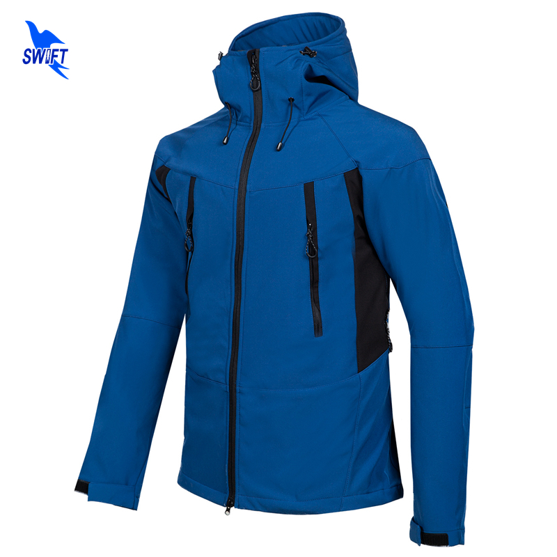 Softshell Outdoor Sport Clothing For Men Camping Trekking Hiking Jacket Thermal Fleece Waterproof Heated Mountain Hoodie