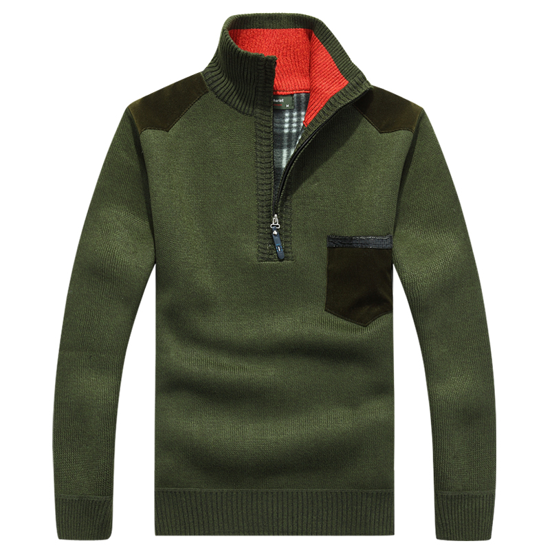 Image 5 - AFS JEEP mens sweaters 2018  brand pullover men half zipper casual knitwear winter sweater turtleneck men clothing christmas men-in Pullovers from Men's Clothing