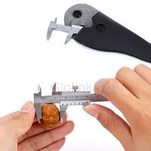 Mini calibre de espessura endurecido de aço inoxidável 0-70mm do calibre da pinça de vernier do machinista métrico