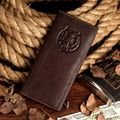 J.M.D Free Shipping Vintage Real Leather Man's Card Holder Multiple Wallet Purse 8017-1C