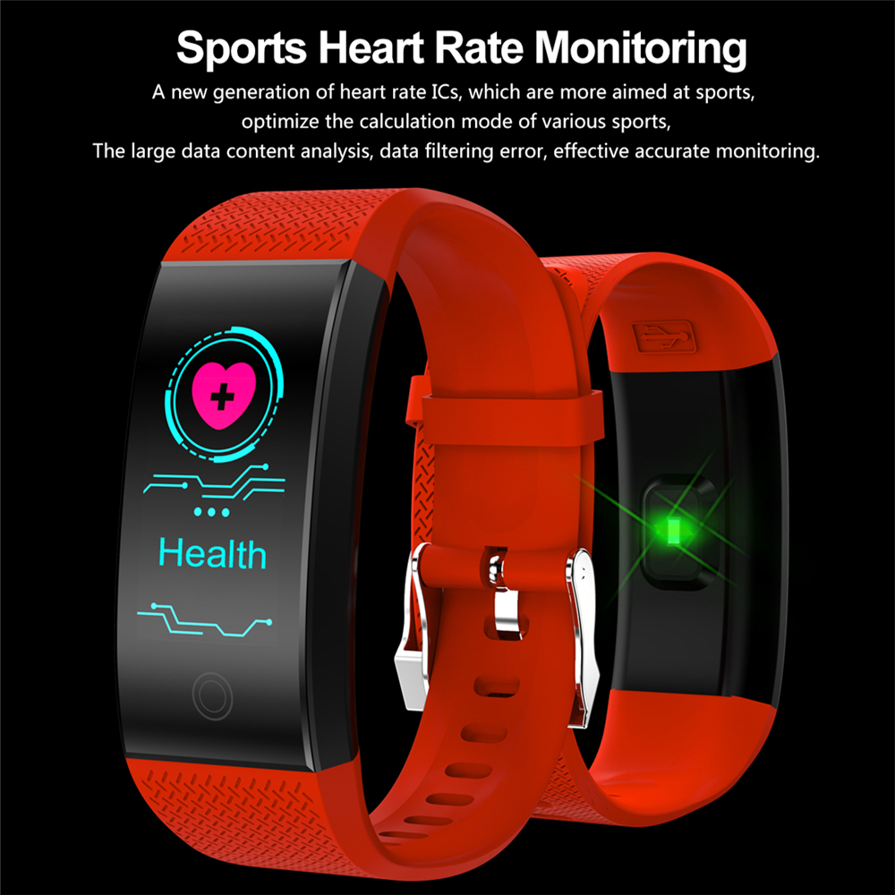 OGEDA Men Smart Watch Women Bracelet Fitness Tracker Waterproof Silicone Wristband Clock Sport Outdoor Bluetooth for Android IOS y5 goral