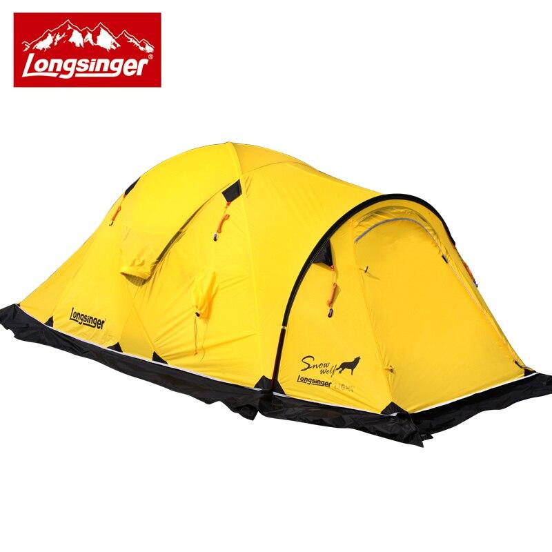 Longsinger/Silício ultra-leve camada dupla barraca de acampamento caminhadas ao ar livre barraca de inverno