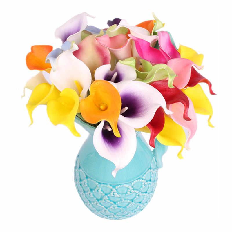 HI-Q 11 шт. искусственные декоративные цветы из искусственной и натуральной Touch 15 видов цветов маленькие каллы, лилии свадебные вечерние Главная Таблица Рождественский Декор искусственные цветы  тычинки  цветов деко