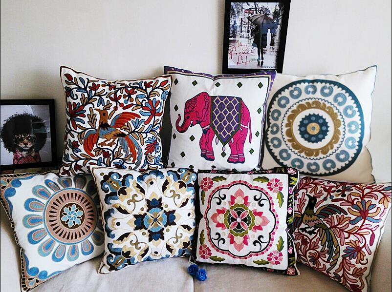 Embroidery cushion home decor pillow pillowcase sofa throw - Sofa de cojines ...