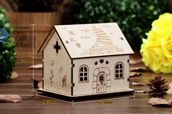 New Flash House Shape Change Wooden Furnishing Articles Piggy Banks Occupy The Birthday Gift Box Children Money Cans Unisex