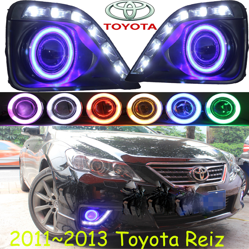 Car-styling,Reiz LED fog lamp,2011~2013,chrome,LED,Free ship!2pcs,Reiz head light,car-covers,Halogen/HID+Ballast;Reiz car styling golf6 taillight 2011 2013 led free ship 4pcs golf6 fog light car covers golf7 tail lamp touareg gol golf 6