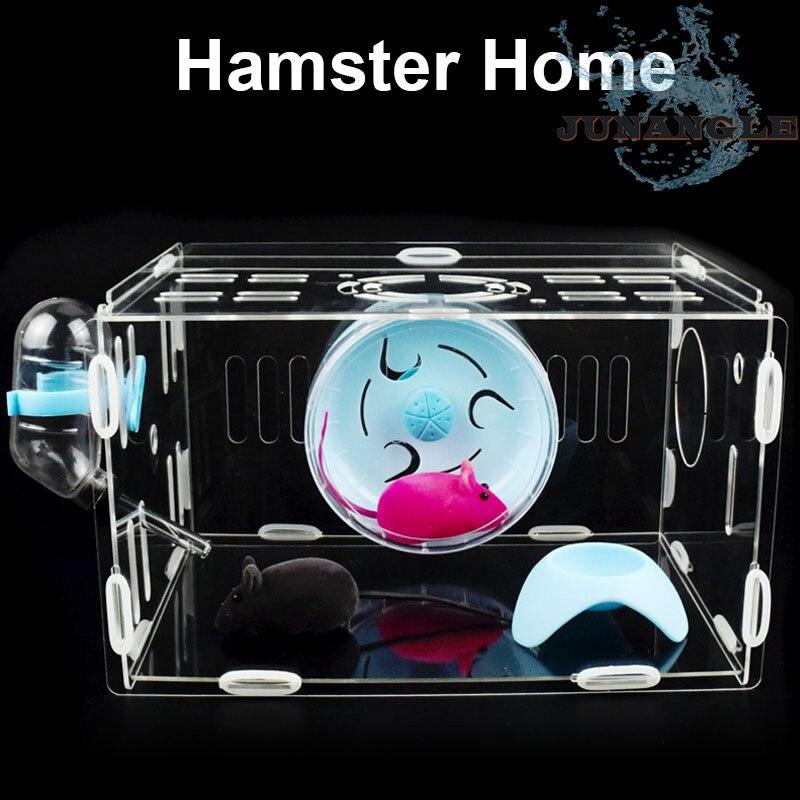 1 pièces petit Animal maison cobaye Cage Hamster bouteille d'eau potable lit Chinchilla roue de course accessoires pour animaux fournitures