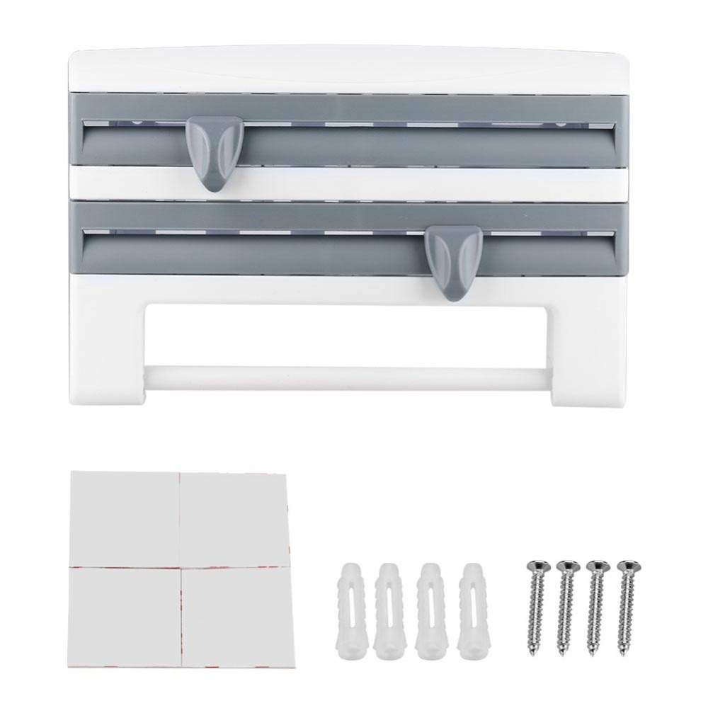 New Plastic Refrigerator Cling Film Storage Rack Shelf Wrap Cutting Wall Hanging Paper Towel Holder Kitchen Storage Accessories in Racks Holders from Home Garden