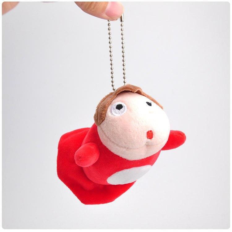 9cm Ponyo On The Cliff  Soft Plush Doll Keychain Toy Japanese Hayao Miyazaki Cartoon Movie Ponyo On The Cliff Mini Small Pendant