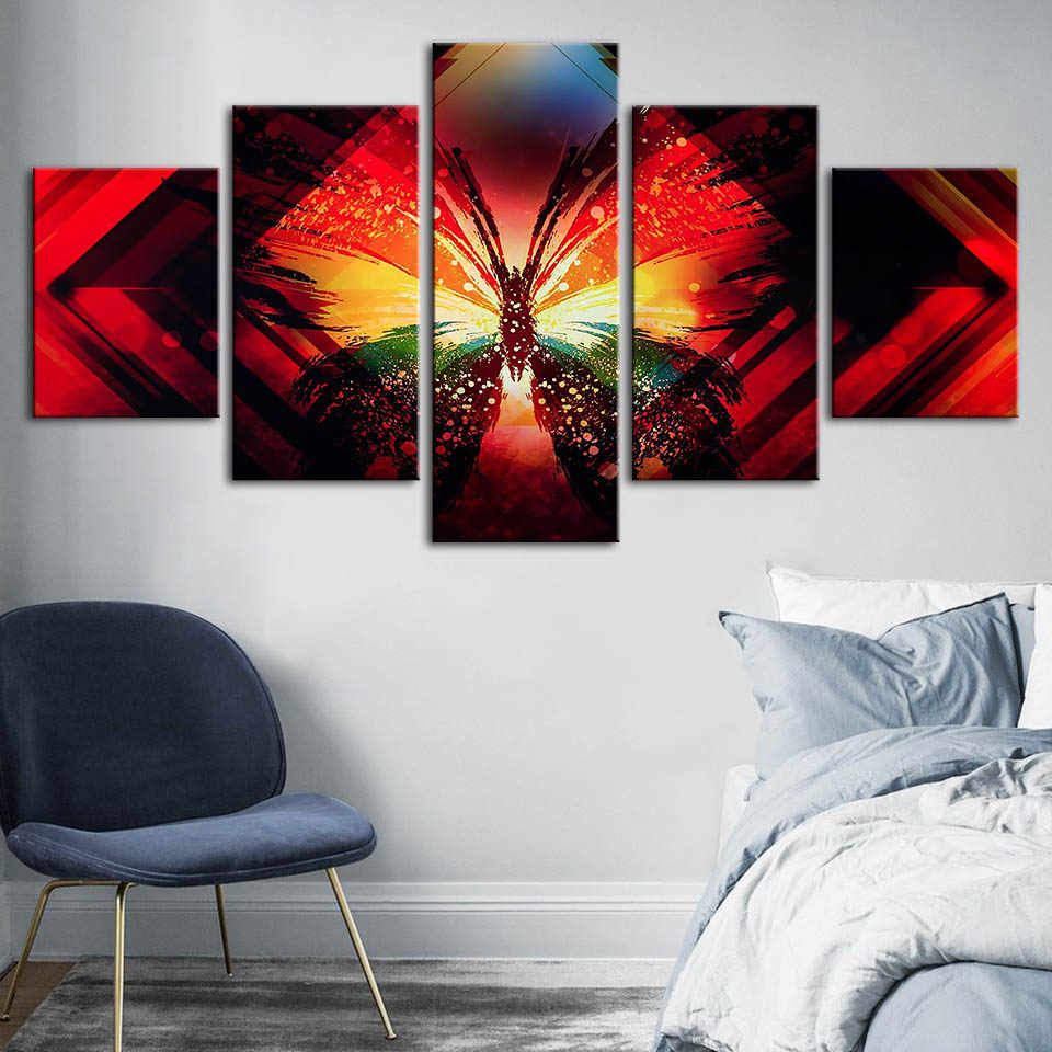 Canvas Painting Wall Art Butterfly HD Printing Abstract Animal Poster Home Decorative Modern Living Room Modular Pictures Framed