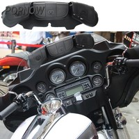 1pc Motorcycle Accessories PU Windshield Bag 3 Pouch Pocket For Harley Touring Electra Glide FLHX 1996