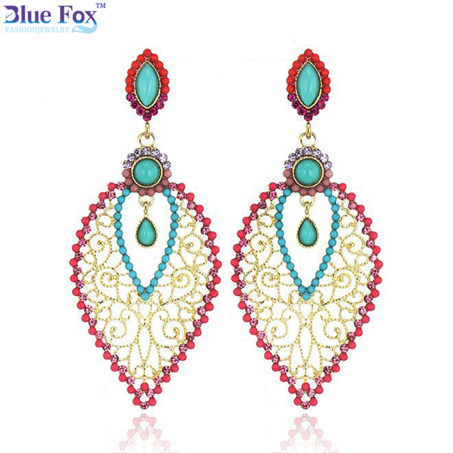 Wholesale Long earring Fashion jewelry Designers Beads Gilded
