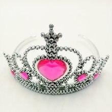 Pink Princess Crown Cartoon Theme Headwear Baby Shwer Favor Party Decoration Girl Birthday Supplies