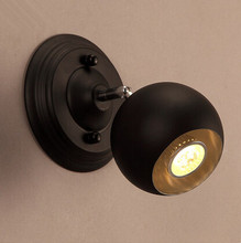Loft Style Metal Globe Vintage LED Wall Light Fixtures Simple Bedside Lamp For Home Stairs Wall Sconce Lampara Pared simple style wood wall sconce modern led wall lamp creative bedroom bedside wall light fixtures home lighting lampara pared
