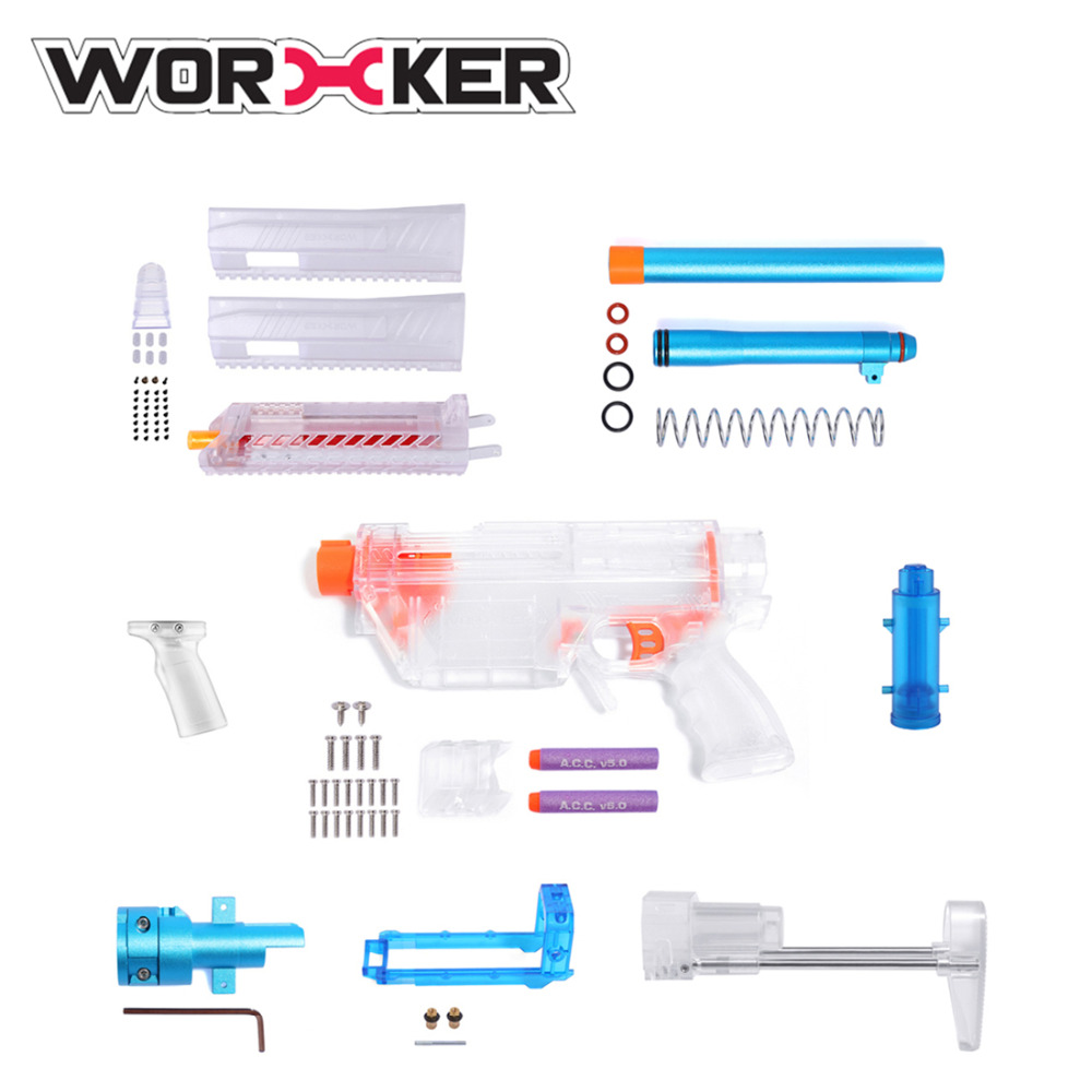Worker Prediction R Series MCX Modeling Short Bullet Transformed Kit for Nerf(Precision Version) - Transparent