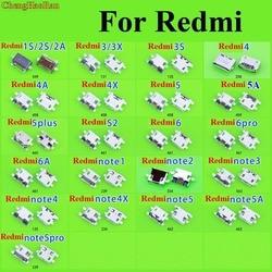 ChenghaoRan dla Xiaomi Redmi 1 S 2 S 2A 3 3X3 S 4 4A 4X5 5A 5 PLUS S2 6 PRO Micro USB gniazdo ładowania złącze zasilania