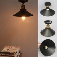 22cm Iron Lampshade E27 Retro Vintage Edison Pendant Light Lamp Shade Industrial Loft Wall Lamp Sconce Ceiling Light Lamp Holder
