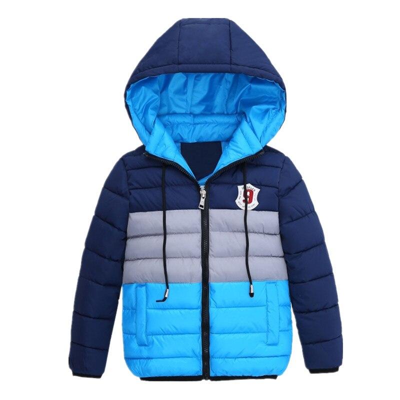 2016 New Boys Blue winter coats & Jacket kids Zipper jackets Boys thick Winter jacket high quality Boy Winter Coat kids clothes мужские кожанные куртки с косой молнией