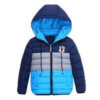 2016 New Boys Blue Winter Coats Jacket Kids Zipper Jackets Boys Thick Winter Jacket High Quality