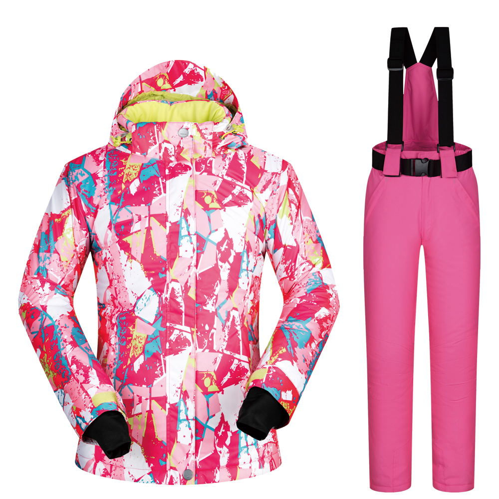 Skiing & Snowboarding Womens Winter Windproof Snowboarding Suits 2018 New Ski Suit Women Waterproof Ski Jumpsuit Female Ski Jacket And Pants Snow Set