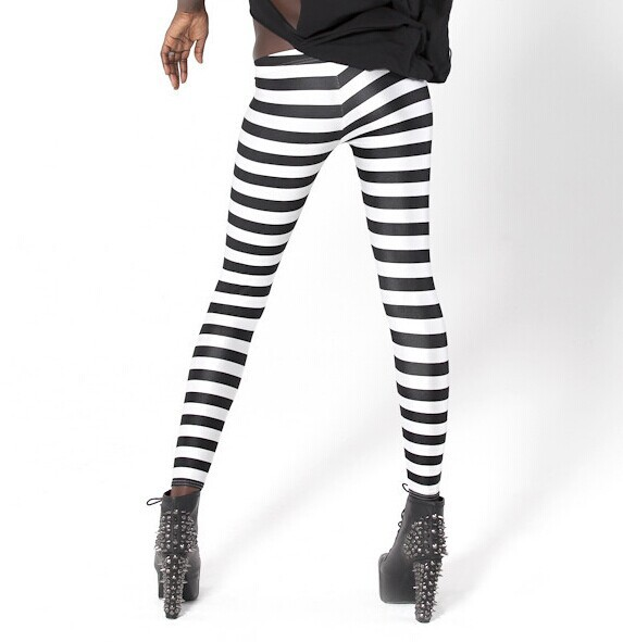 Small To Plus Size Women Zebra Leggings
