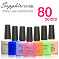 1PCS Sapphire Nail Gel Newest 80 Fashion UV Gel Polish 7.3 ML Soak Off Nail Gel Polish for nail makeup  beauty  tools
