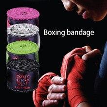 2016 Printing Style Sports Boxing Gloves Strap Sanda Muay Thai Fighting Boxing Bandage Protecting Wrist Training Accessory