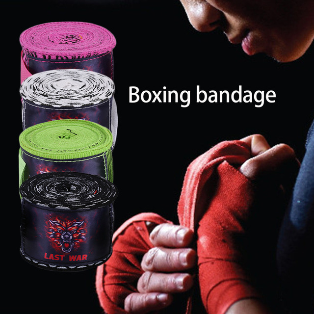 2016 Printing Style Sports Boxing Gloves Strap Sanda Muay Thai Fighting Boxing Bandage Protecting Wrist Training Accessory