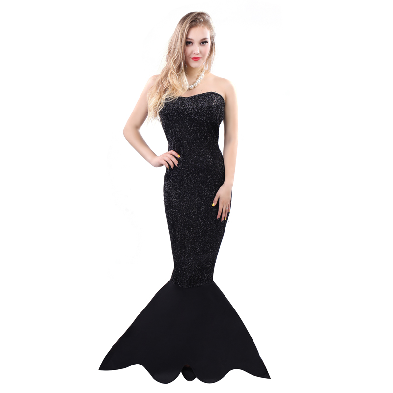 ladies evening dress 2016 halloween costumes women cheap slim line sexy bodycon party long black - Halloween Costumes Prices