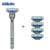 Conjunto de afeitar cuchillas de afeitar máquina de afeitar de afeitar gillette mach 3 turbo Barbero de Afeitar Para Los Hombres 1 Titular de afeitar Manual de Seguridad 1 Blade + 4 Cuchillas