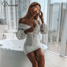 White Embroidery Elegant Spring Summer Bandage Dresses