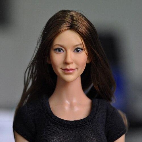 Kumik 1/6 Весы 13-96 голову куклы красивая женщина headsculpt DIY Интимные аксессуары для 12 дюймов куклы, куклы и одежду не включают