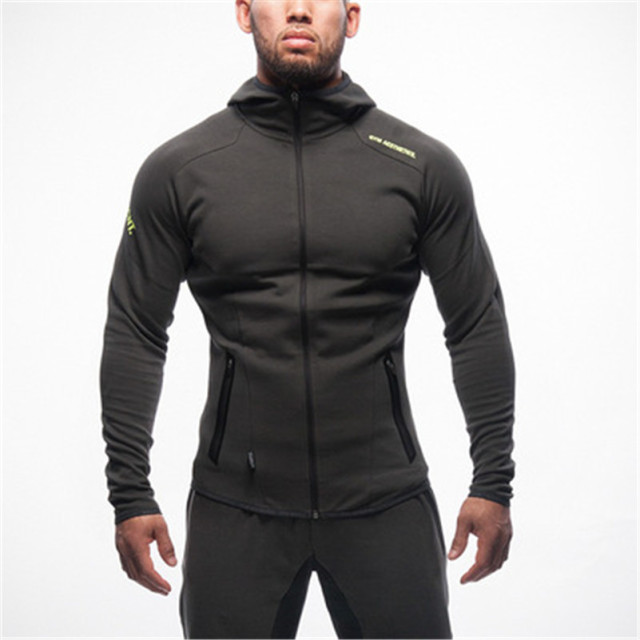 New Sweatshirt Mens Bodybuilding Hoodies Brand-clothing Workout Fashion Hooded Tracksuit ordinary Men Bull