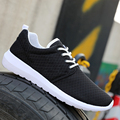 2016 Caliente de Los Nuevos Hombres Zapatos Casuales de La Moda Transpirable Zapatos Gris azul Negro Zapatos Planos