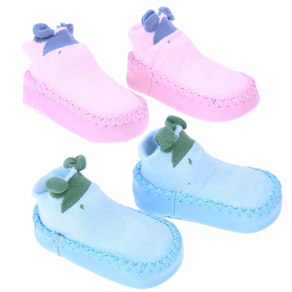 Cute Baby Shoes Newborn Boy Girl Floor Socks Shoes Non Slip Warm Slippers Toddlers Leather Shoes First Walker Baby Moccasins
