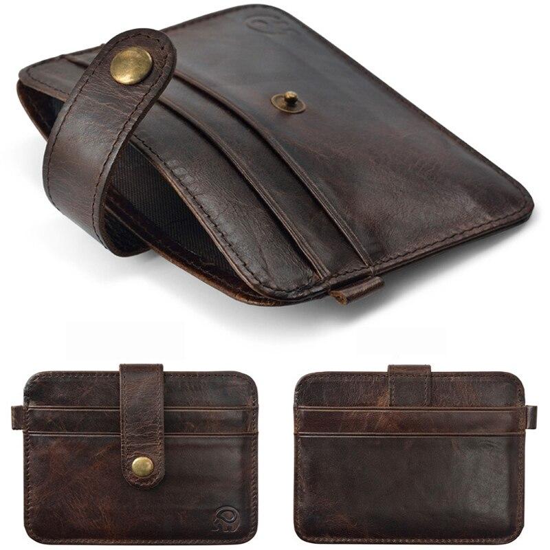 Slank läder Fler-kort-bit-packväska män Wallet Creadit - Plånböcker - Foto 4