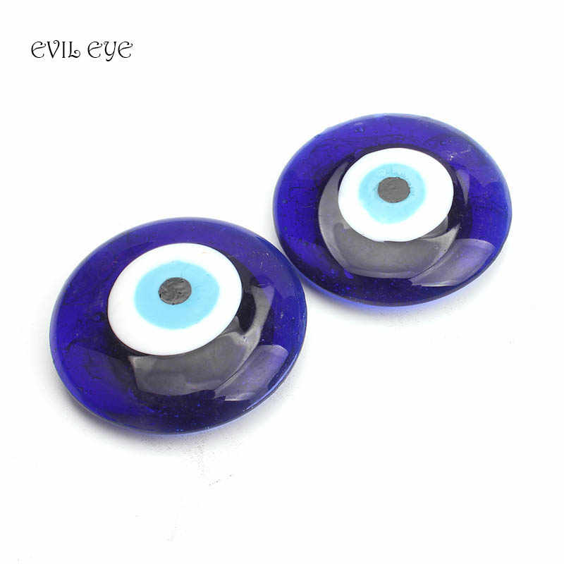 EVIL EYE Home Decoration 2pc evil eye blue Magnets charms round magnet Strong Magnet Wall Hanging Jewelry