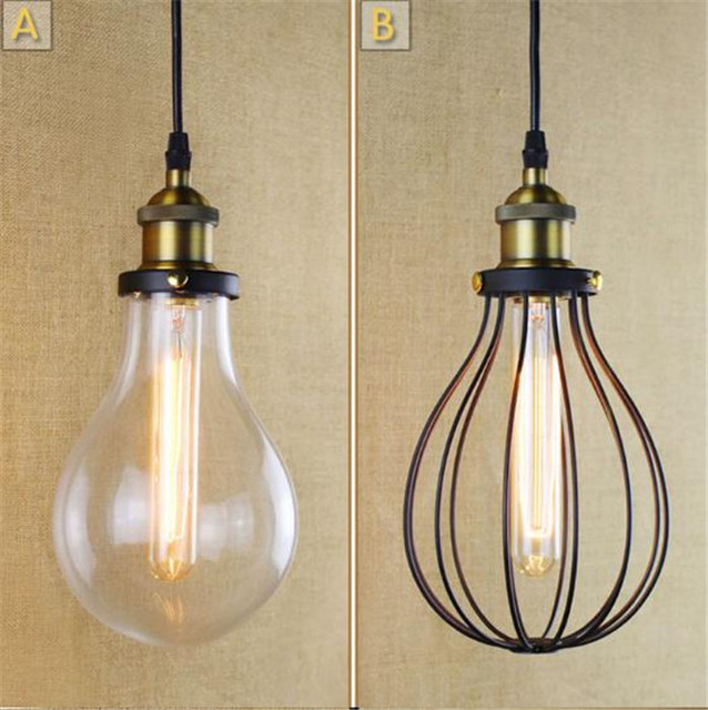 Aliexpress buy american rural industrial glass metal mesh american rural industrial glass metal mesh lampshade drop iron hall living room bar decorated dining room aloadofball