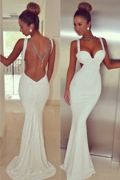 00b1a4e8ab6c Bling Sexy Sequins Sweetheart Sheath Prom Dress Open Back Long Dress For Evening  Custom Made 2016