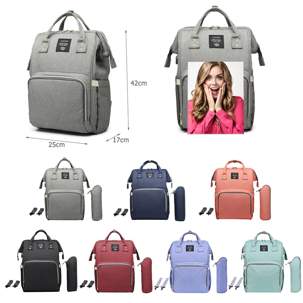 LEQUEEN Baby Diaper Bag With USB Interface Large Capacity Waterproof Nappy Kits Mummy Maternity Travel Backpack Nursing Handbag bag