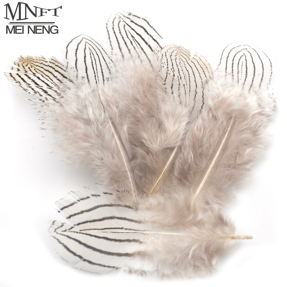 MNFT 50PCS Natural Grizzly Feather Flies Wing Making Feather Pheasant Feathers For Fly Tying Materials Marabou Wings