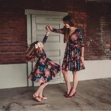 Mother Daughter Vintage Floral A-line Mini Dress