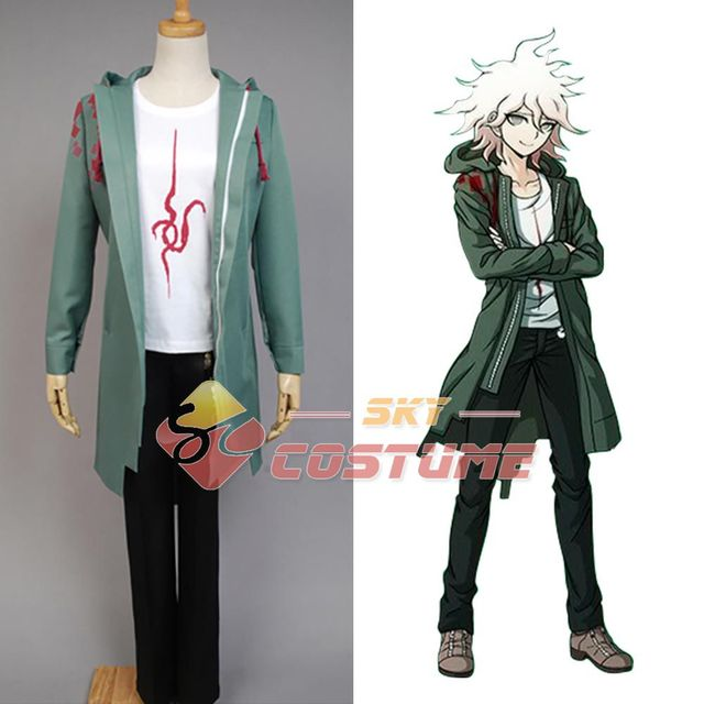 Super Dangan Ronpa 2 Cosplay Costume Nagito Komaeda Halloween Cosplay  Costume Dust Trench Coat Halloween Carnival
