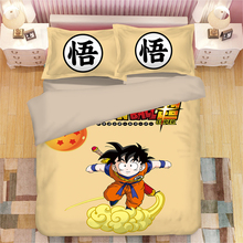 Dragon Ball 3D printing print bedding set Sun Wukong Anime Duvet Covers Pillowcases comforter sets bedclothes bed linen
