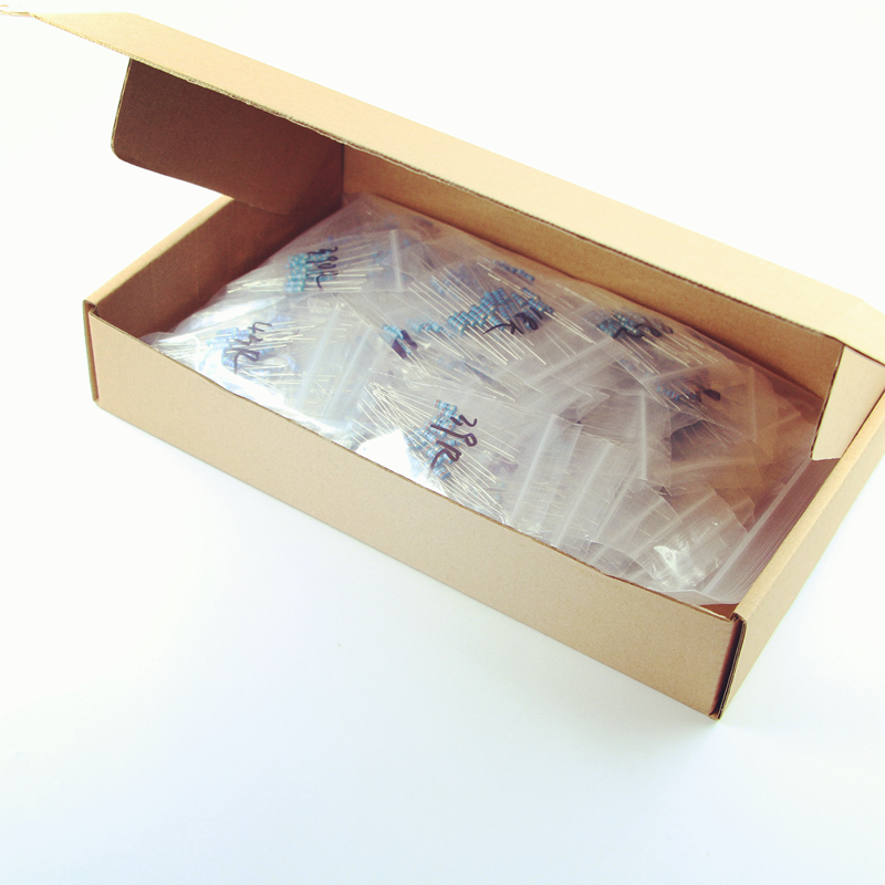 PHISCALE Carbon film resistor assorted kit 0 1 5 1M ohm 1 2w 0 5w 5